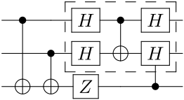 Example qcircuit output