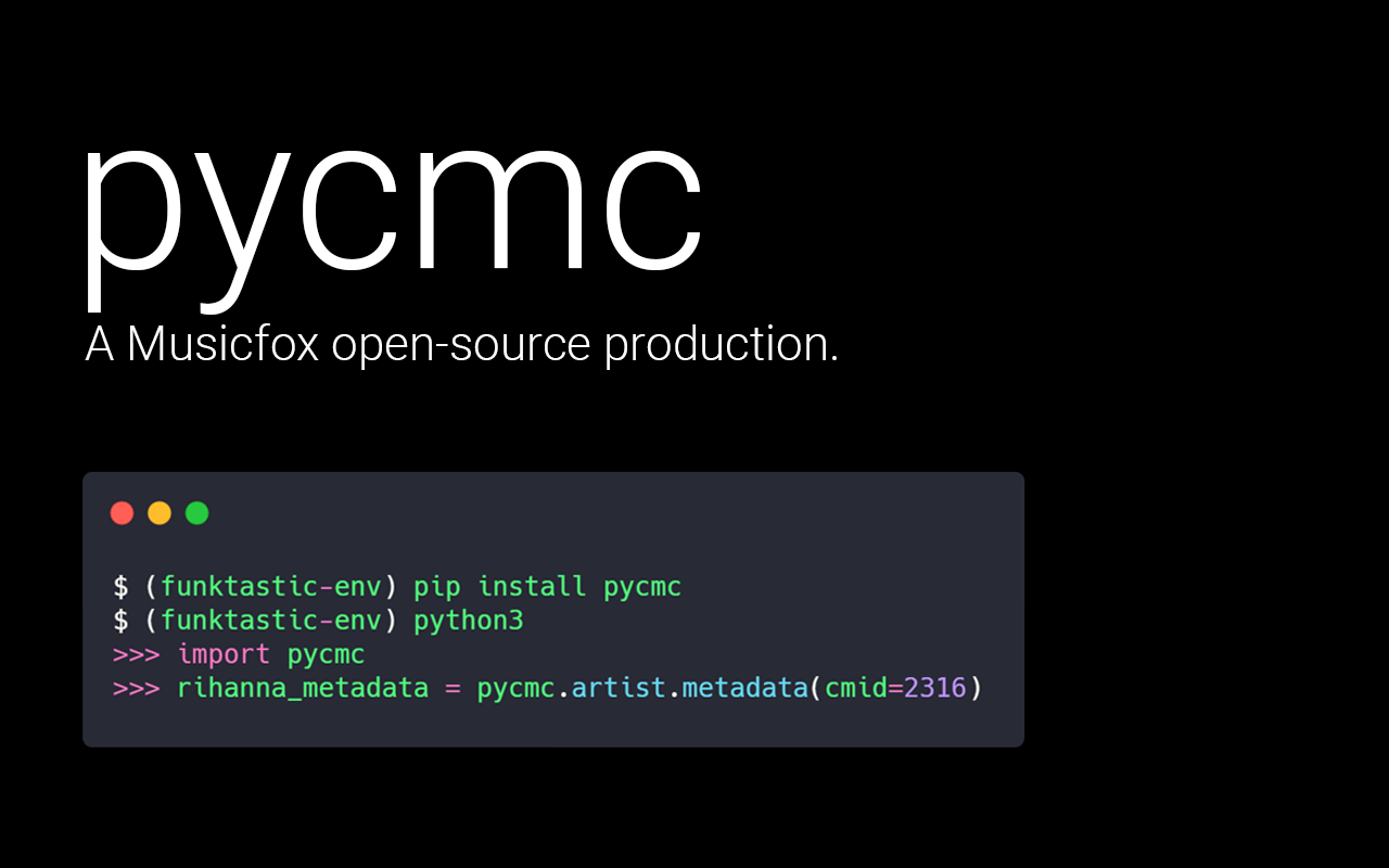 pycmc heading image from Musicfox