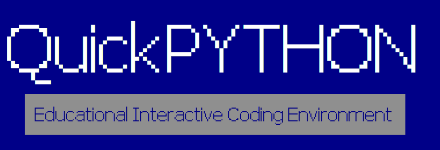 QuickPYTHON - Educational Interactive Coding Environment