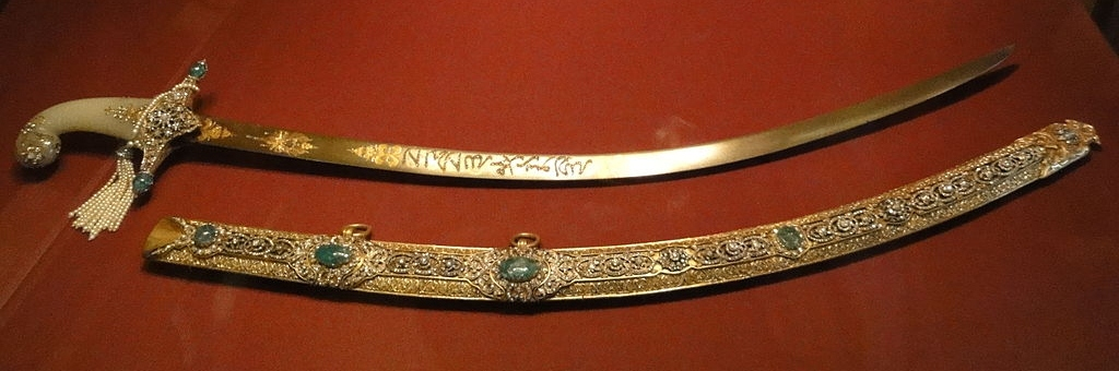 Princely Mughal sabre with jewelled scabbard