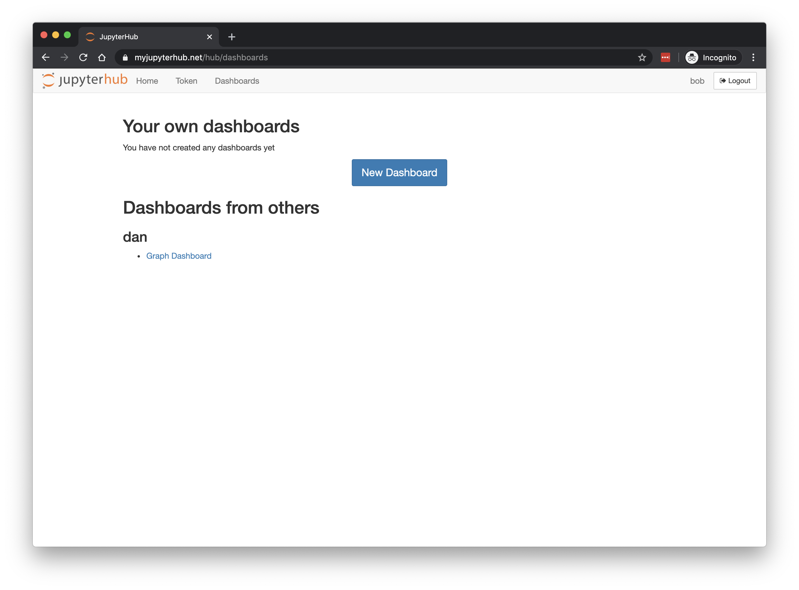 Other User sees dashboard