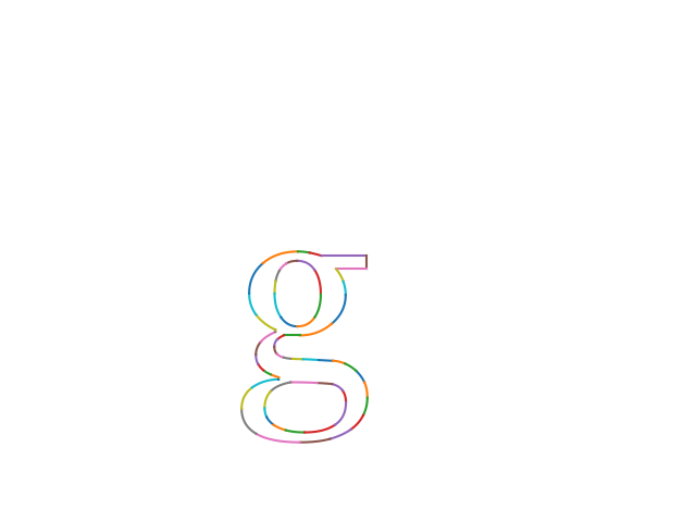 Rendered glyph (lowercase g)