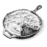 Pie in a cast iron skillet