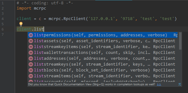 mcrpc code completaion