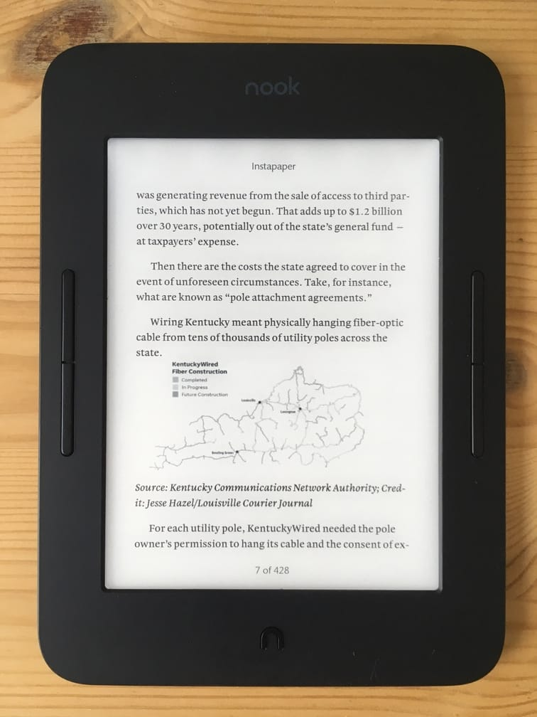 Preview of a Portable Wisdom-generated ebook on an ereader