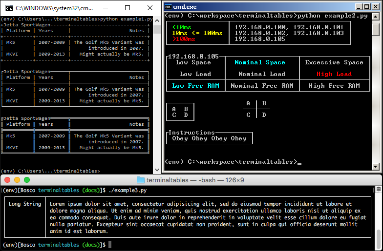 Example Scripts Screenshot