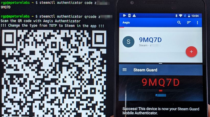preview: steamctl authenticator