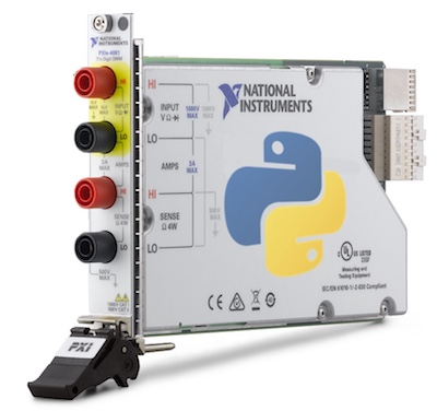 NI Digital Multimeter with Python logo