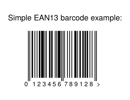Generated barcode example