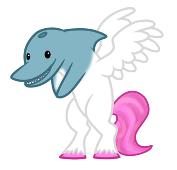 The dolphin-pony - proof that cute + cute = double cute.