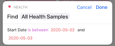 To select all data for May 2nd, 2020, you would select a date range between May 2nd and 3rd