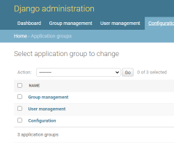 Manage Application groups.