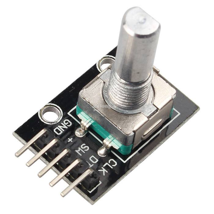 KY-040 rotary encoder and switch