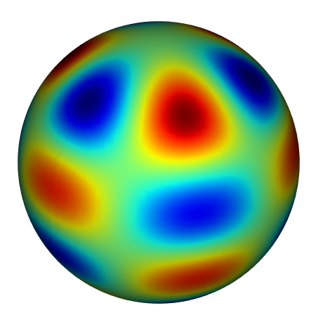 Solution of Poisson's equation on a spherical shell