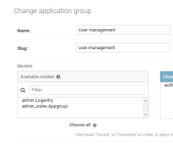 Configure application groups and add Application links.