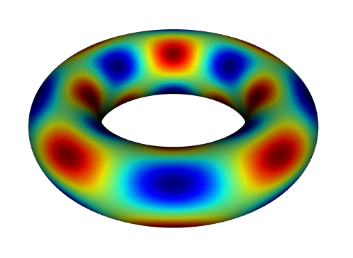 Solution of Poisson's equation on the surface of a torus