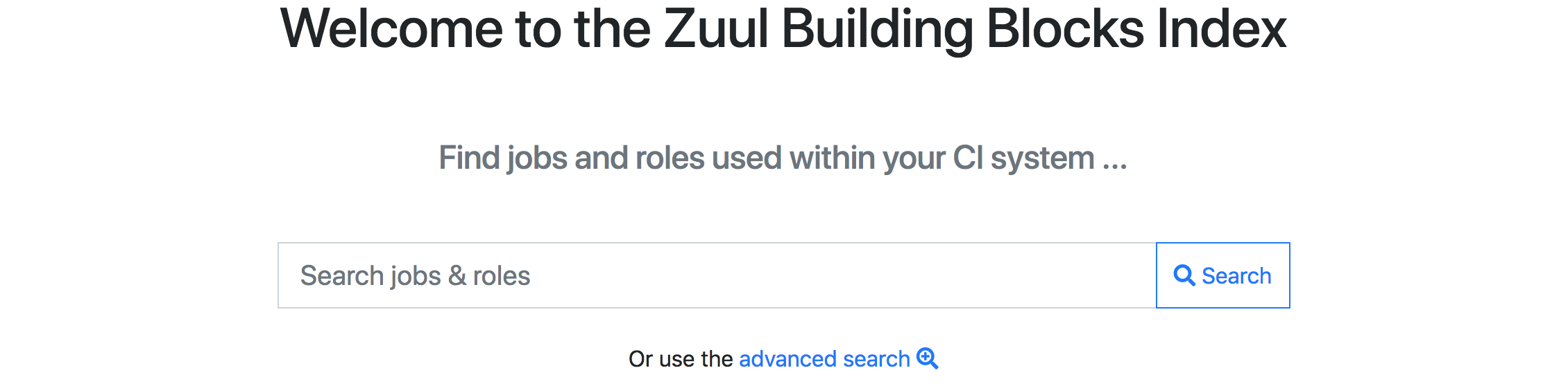 Welcome to the Zuul Building Blocks Index